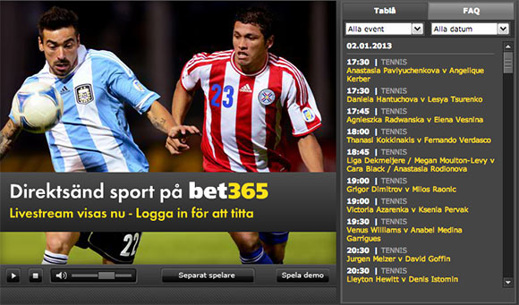 Bet365 Livestreaming Odds